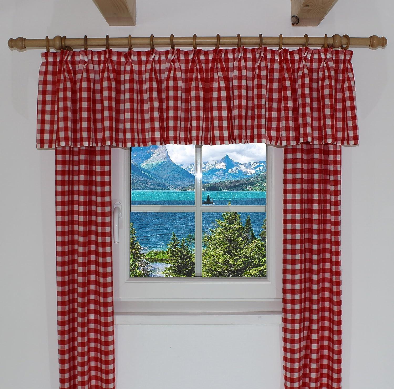 Querbehang passend für Vorhang Landhaus Design \