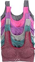 ToBeInStyle Women's Pack of 6 Plus Size U-Back Scoop Neck Wide Strap Sports Bras