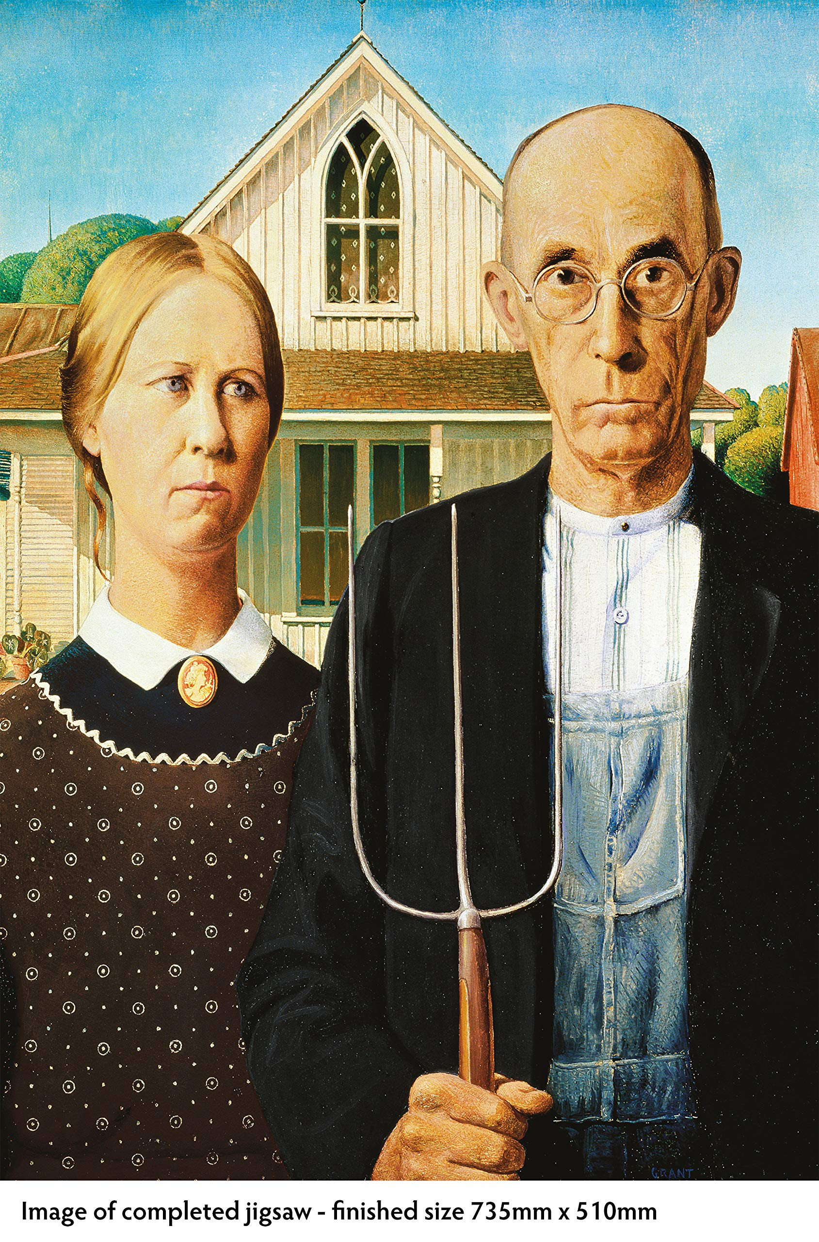 adult jigsaw grant wood american gothic 1000 piece jigsaw puzzle 1000 piece jigsaws