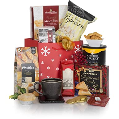 Christmas Hamper Basket.A Little Taste Of Christmas Hamper Xmas Hampers And Festive Gift Baskets For Her Christmas Food Goodies In A Great Red Gift Bag