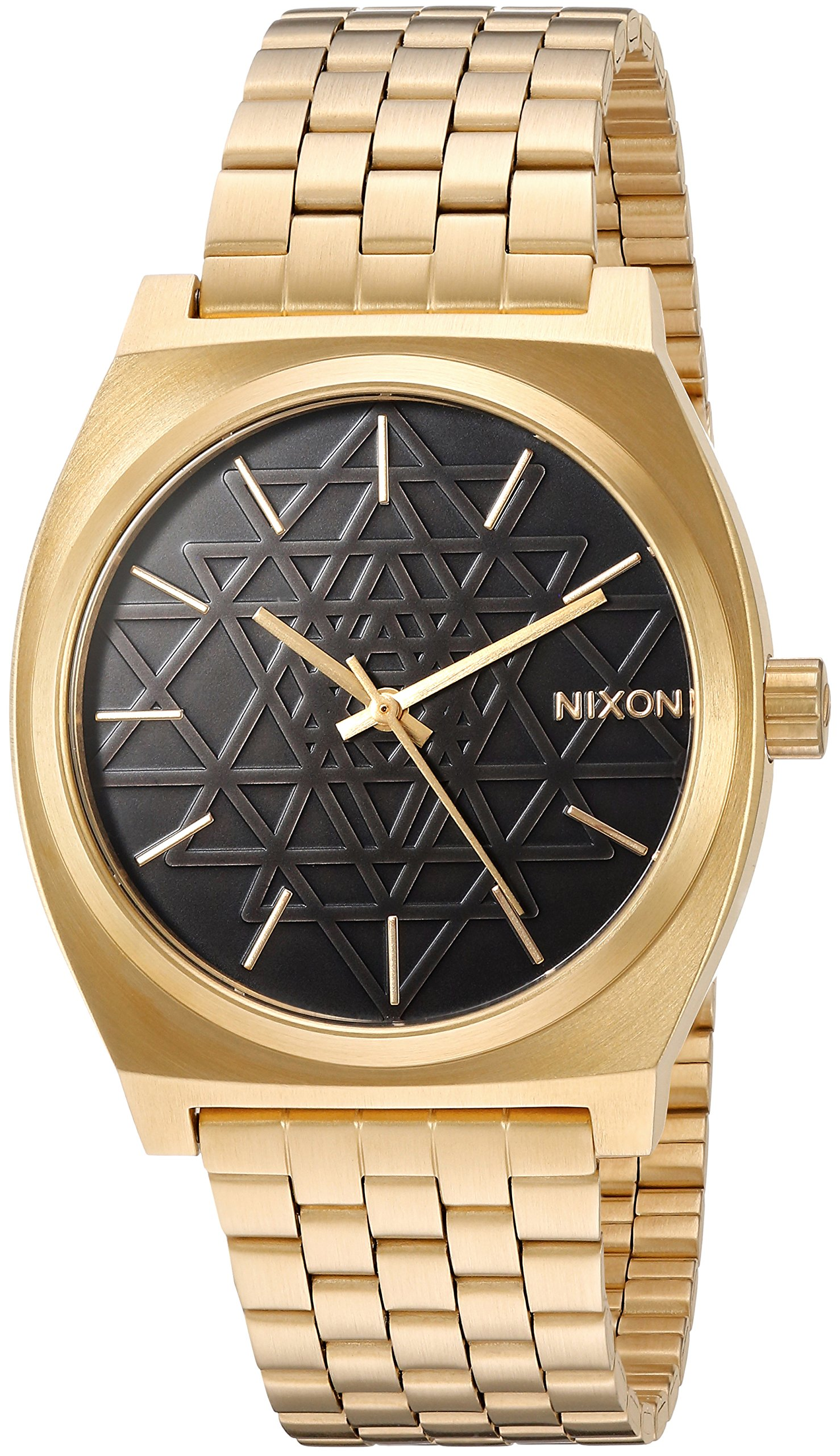 Nixon Time Teller A0452478-00. Gold and Black Women's Watch (37mm. Gold Metal Band/ Black Stamped Watch Face) by NIXON