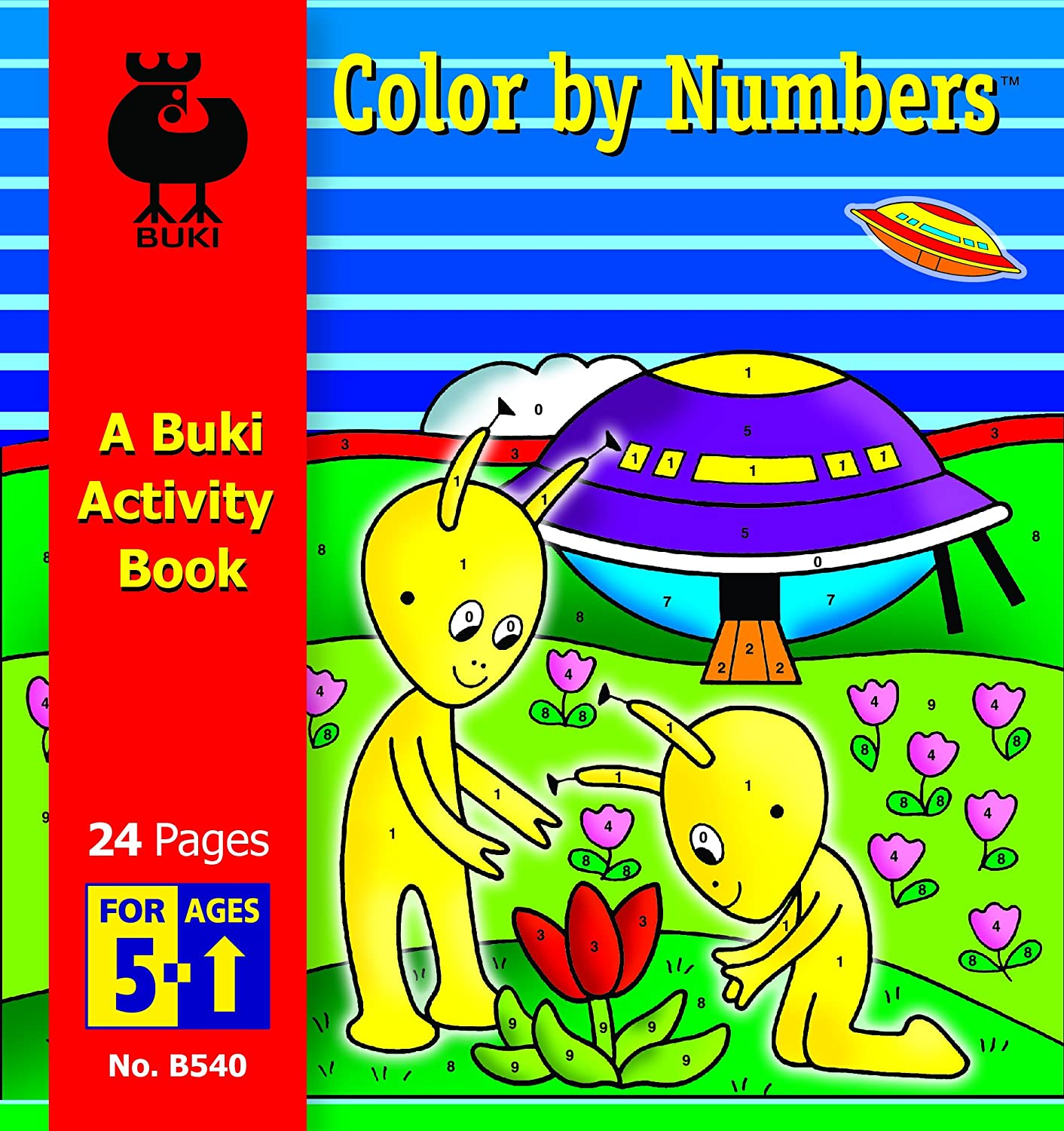 Amazon.com: Buki Color by Numbers Activity Book, Small: Toys & Games