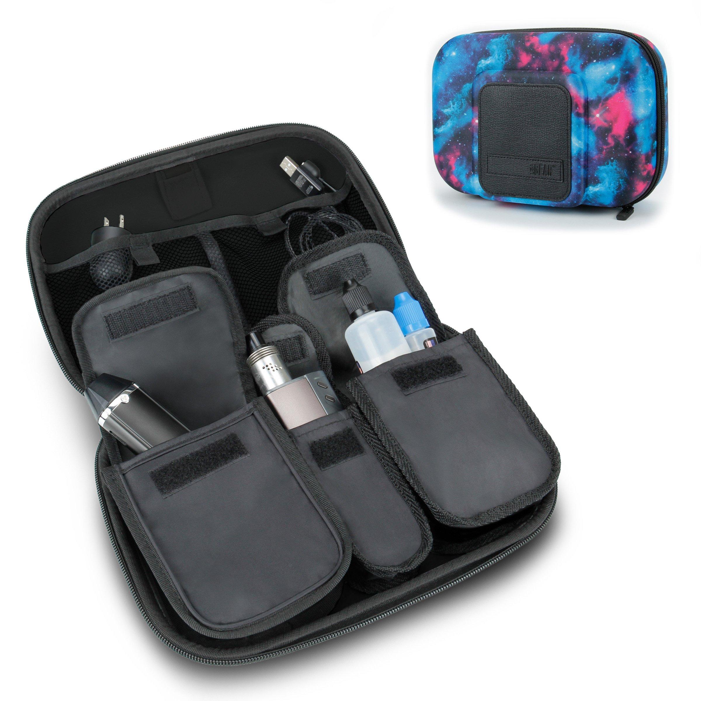 USA Gear Vape & Accessory Carrying Case Premium E-Cigarette Vape Mod Travel Pen Large Organizer - Works with blu, Innokin, Janty, Halo Cigs, 777 E-Cigs and More Electronic Cigarettes
