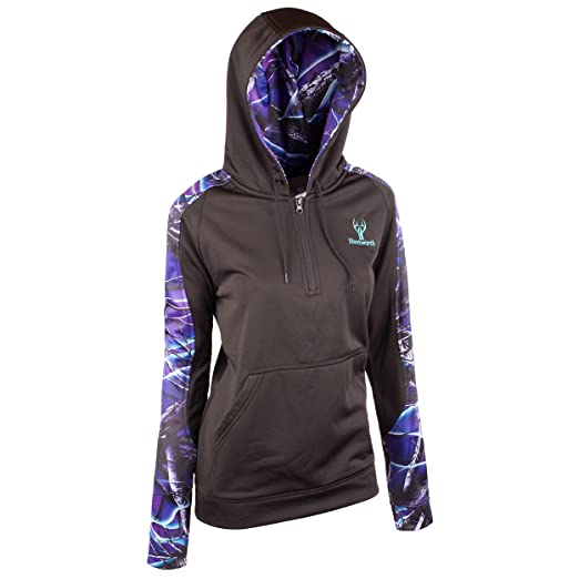 d8a123d5c2e44 Huntworth 9038-W-31 Women's Lifestyle Performance Fleece Hoodie, X-Large,