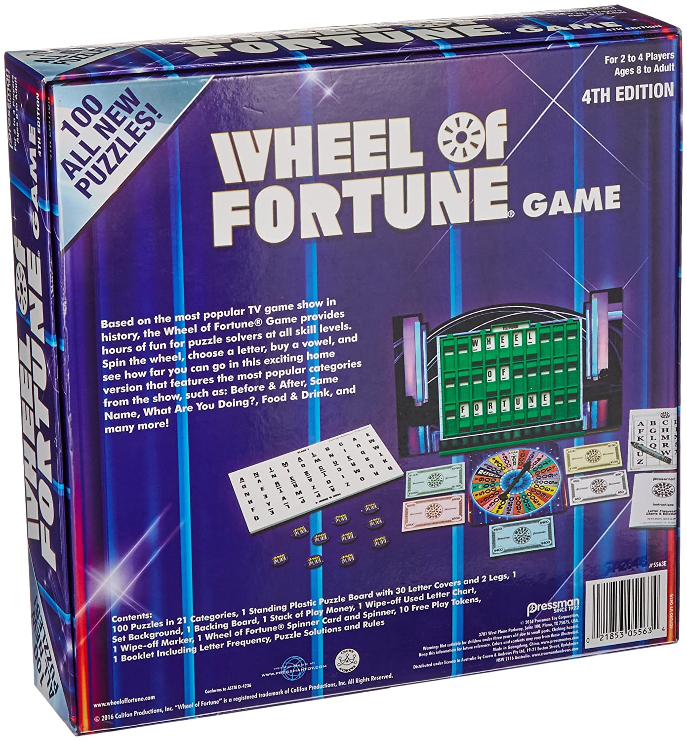 Wheel Of Fortune Board Game