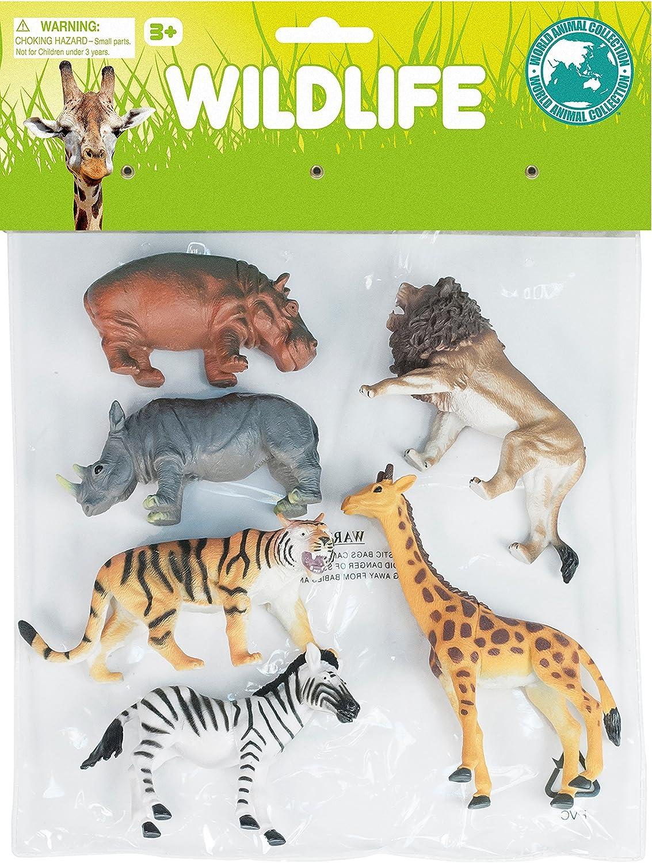 World Animal Collection Wonder World of Nature Wildlife 6 Piece Playset Premium World Products Corp 18103378