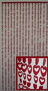 Hanging Beaded Door Curtain Divider Red Sweet Heart Design 35 5 W X 72  Amazon Com Natural Bamboo Wood V Pattern