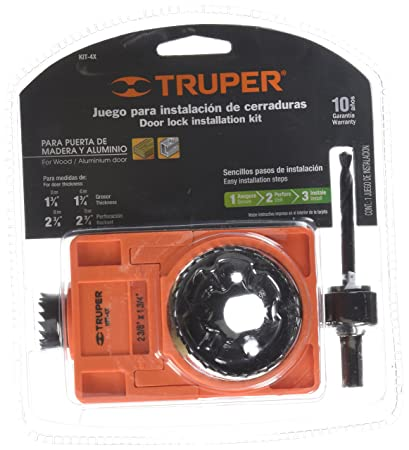 TRUPER KIT-4X 4-Pc Door Lock Installation Kit