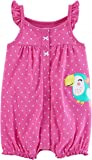Carter's Baby Girls' Snap-Up Cotton Romper