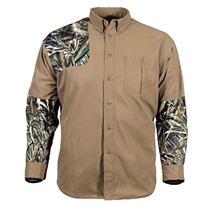 d8d91862d608e Amazon.com : Gamehide Camo Tipped Button Up Hunting Shirt : Sports &  Outdoors