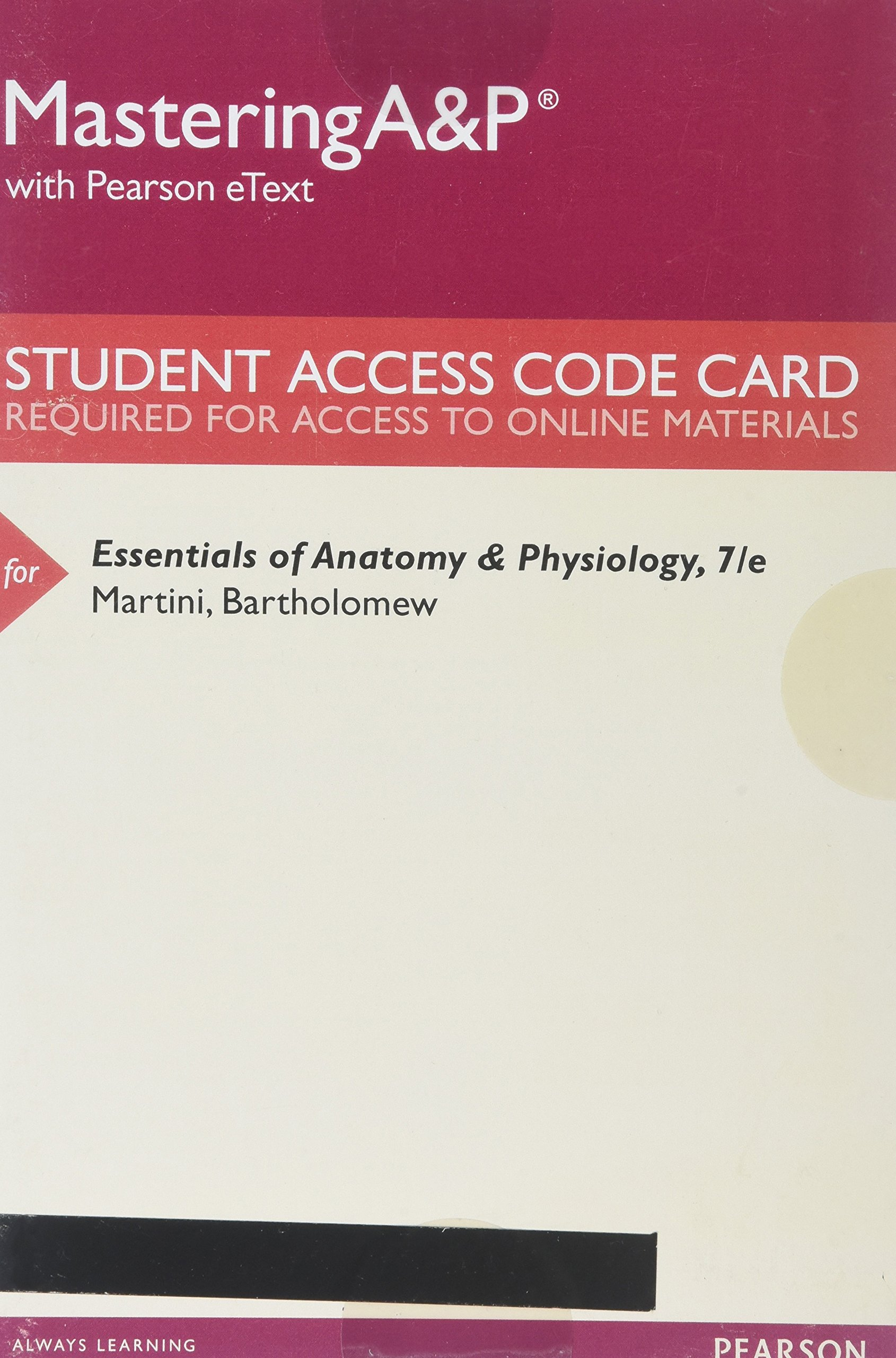 MasteringA&P with Pearson eText -- Standalone Access Card -- for ...