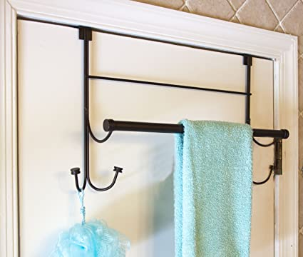 Captivating Bathsense Over The Door Towel Rack With 4 Hooks, Oil Rubbed Bronze