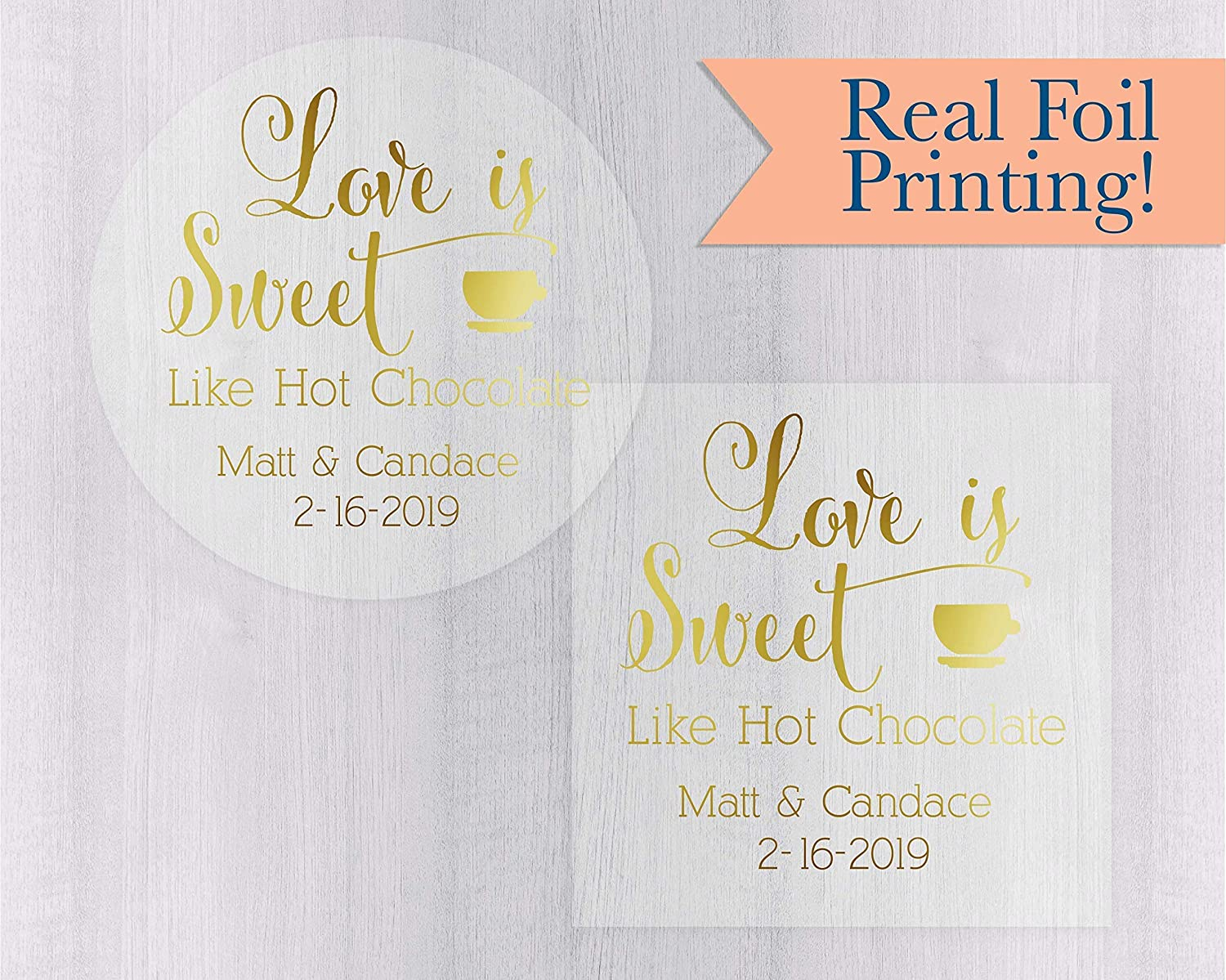 Amazon com love is sweet gold foil on clear transparent