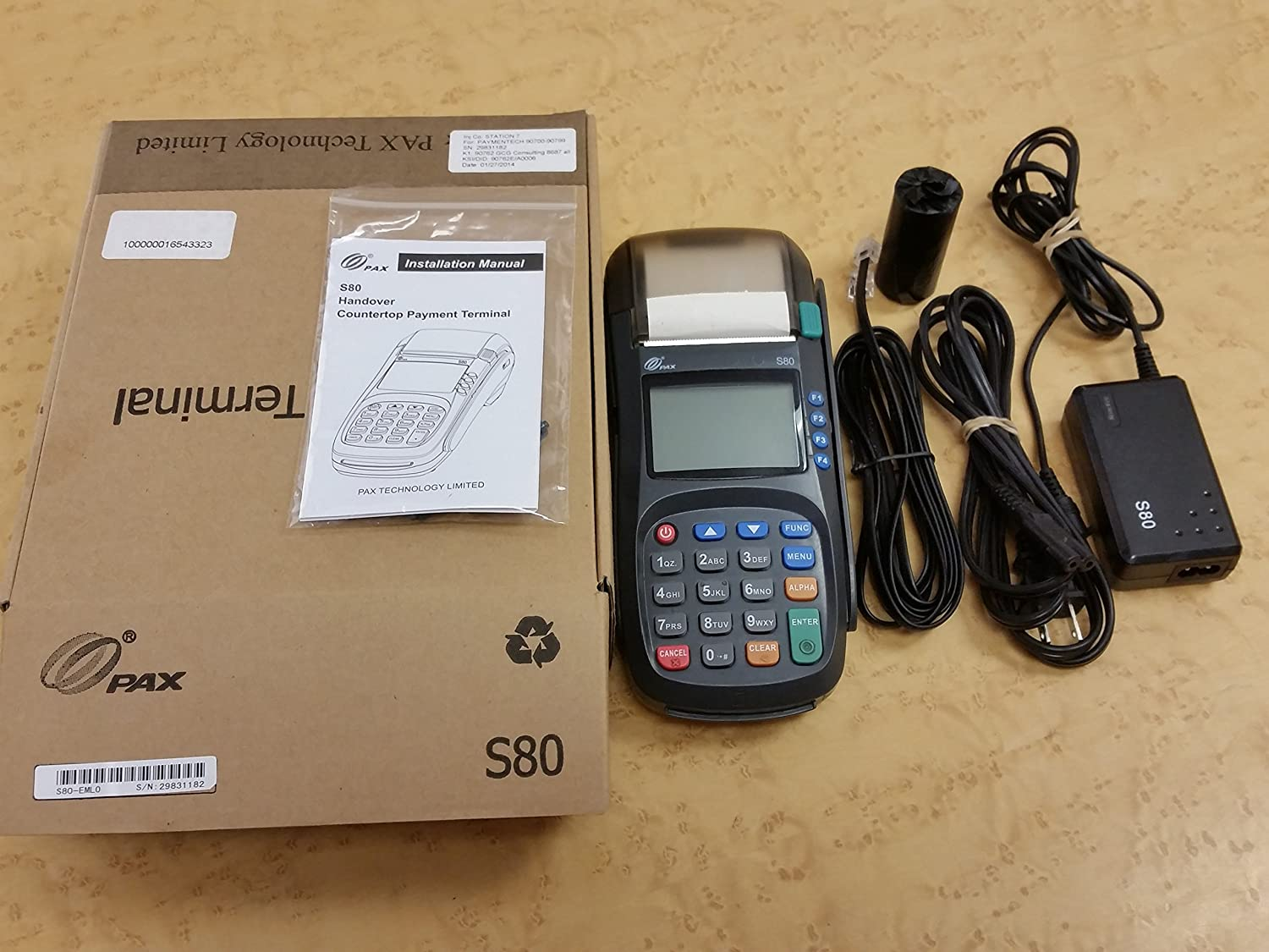 Amazon com : PAX S80 Dual Comm CCL EMV : Office Products
