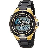 Skmei Analog-Digital Multi-Colour Dial Unisex's Watch-1016BBGO