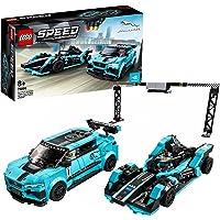 LEGO 76898 Speed Champions Formula E Panasonic Jaguar Racing GEN2 car & Jaguar I-PACE eTROPHY Raceauto set