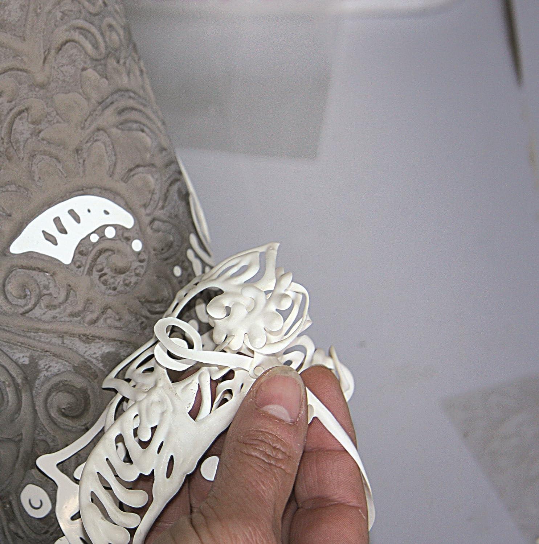 CREARTEC Betonliner Made in Germany elfenbeinfarbig schadstofffrei zum Dekorieren von Betonprojekten 40ml
