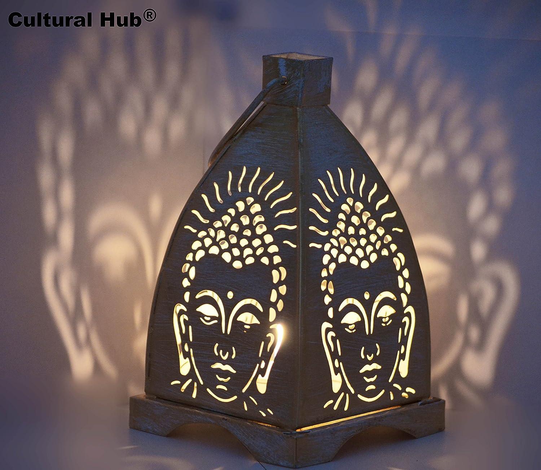 Buda con portavelas de cristal, regalo hecho a mano, interior y ...