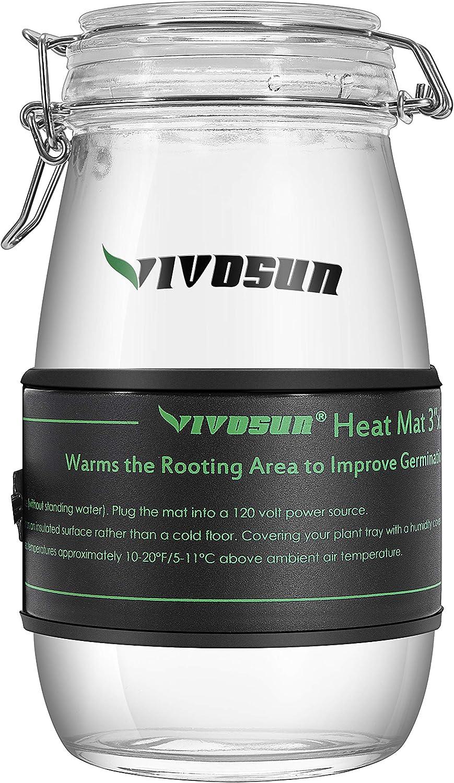 "VIVOSUN Durable Waterproof Seedling Heat Mat Warm Hydroponic Heating Pad 3'' x 20"" for Kombucha Tea & Beer Brewing, Fermentation, Seedlings & Plant Germination"