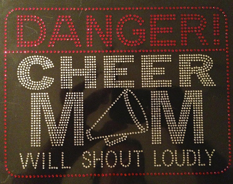 Horn Danger Cheer mom will shout loudly Rhinestone Transfer