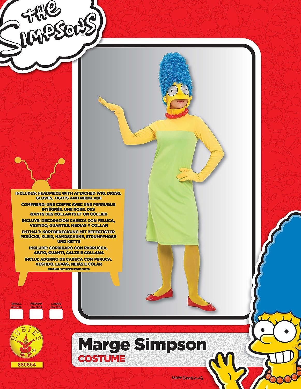 Amazon.com: Ladies Marge Simpson Fancy Dress Halloween Party ...