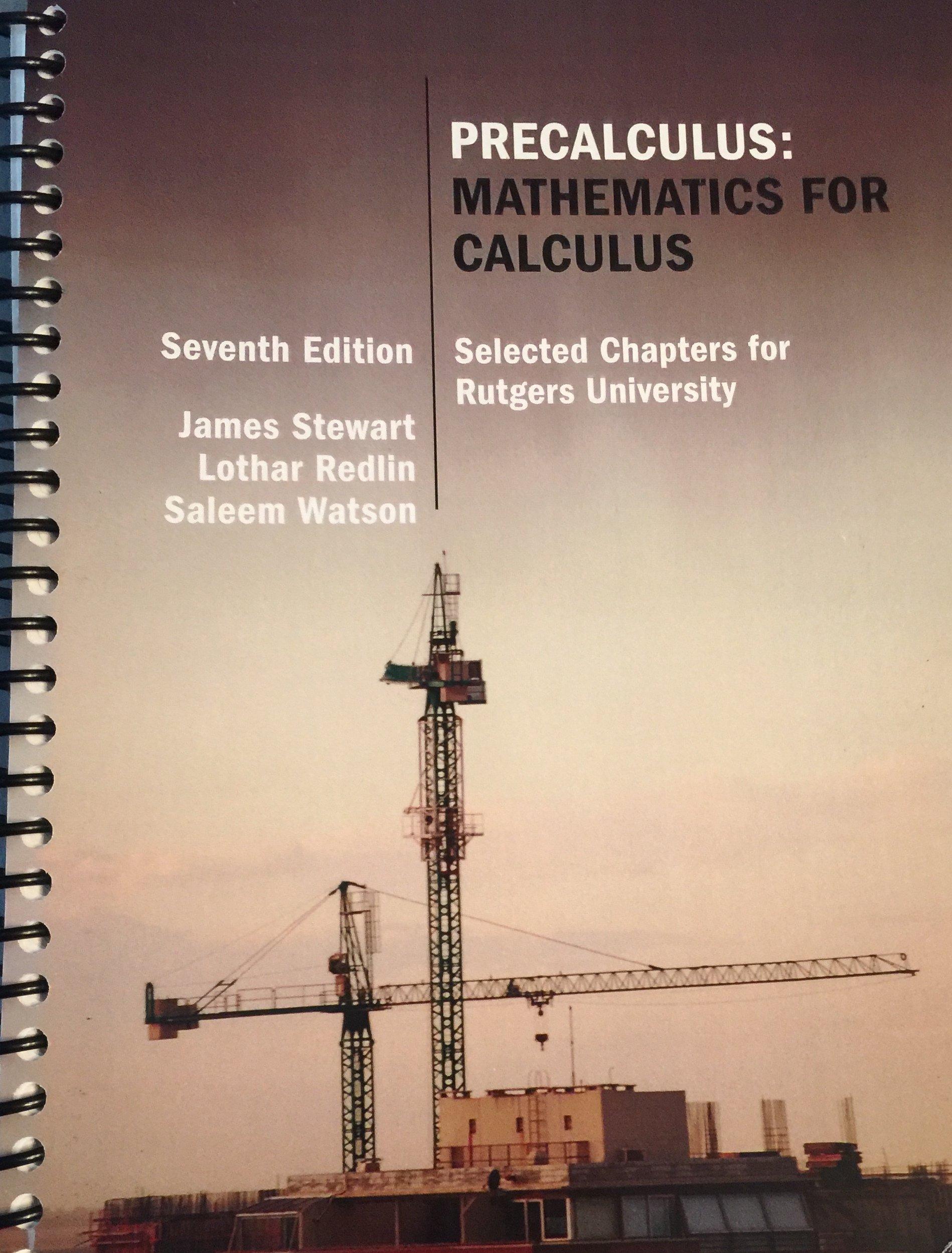 Precalculus Mathematics For Calculus James Stewart Lothar