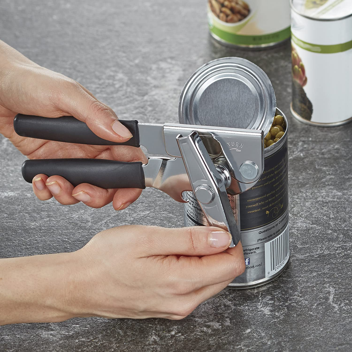Swing-A-Way Portable Can Opener, Black: Kitchen & Dining