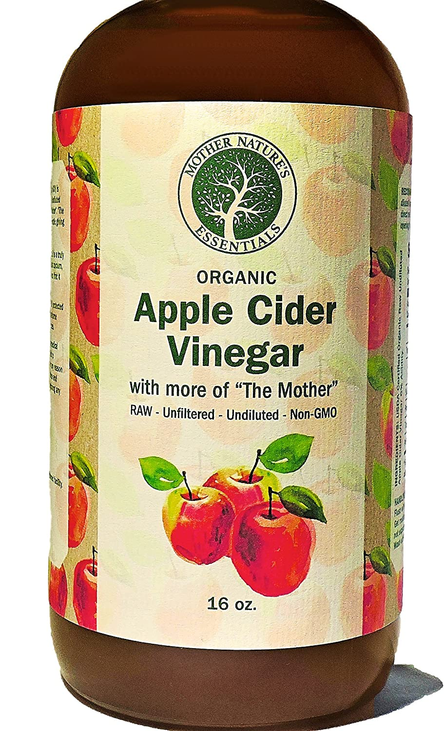 """Apple Cider Vinegar, USDA Organic Raw, Unfiltered, Undiluted with """"The Mother"""", Natures Appetite Suppressant Perfect with Garcinia Cambogia Weight Loss Program"""