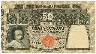 Cartamoneta.com 50 Lire BANCO di Napoli Biglietto al Portatore 13/12/1914 BB+