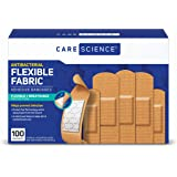 Care Science Antibacterial Fabric Adhesive Bandages, 100 ct Assorted Sizes | Flexible + Breathable Protection Helps…