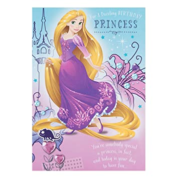 Amazon disney tangled rapunzel birthday card office products disney tangled rapunzel birthday card bookmarktalkfo Image collections