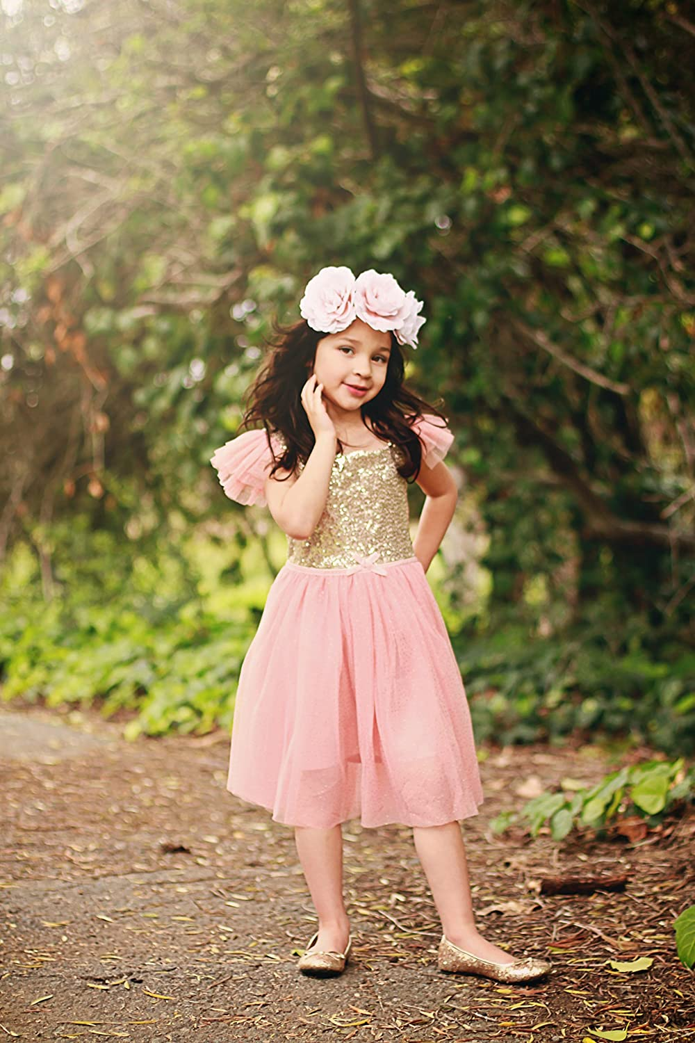 Amazon.com: Birthday Dress for Little Girls Princess Ballerina ...