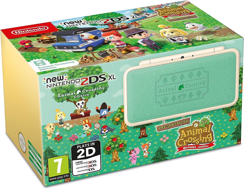 New Nintendo 2DS XL Handheld Console - Pre-installed with Animal Crossing New Leaf: Welcome amiibo [Importación inglesa]: Amazon.es: Videojuegos