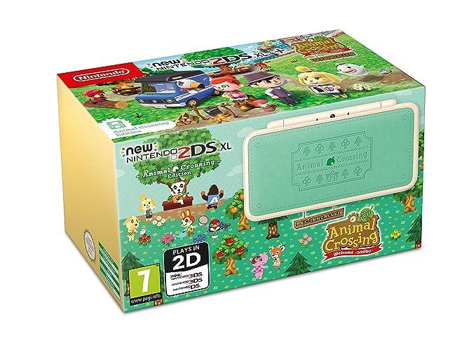 New Nintendo 2DS XL Animal Crossing + Animal Crossing ...