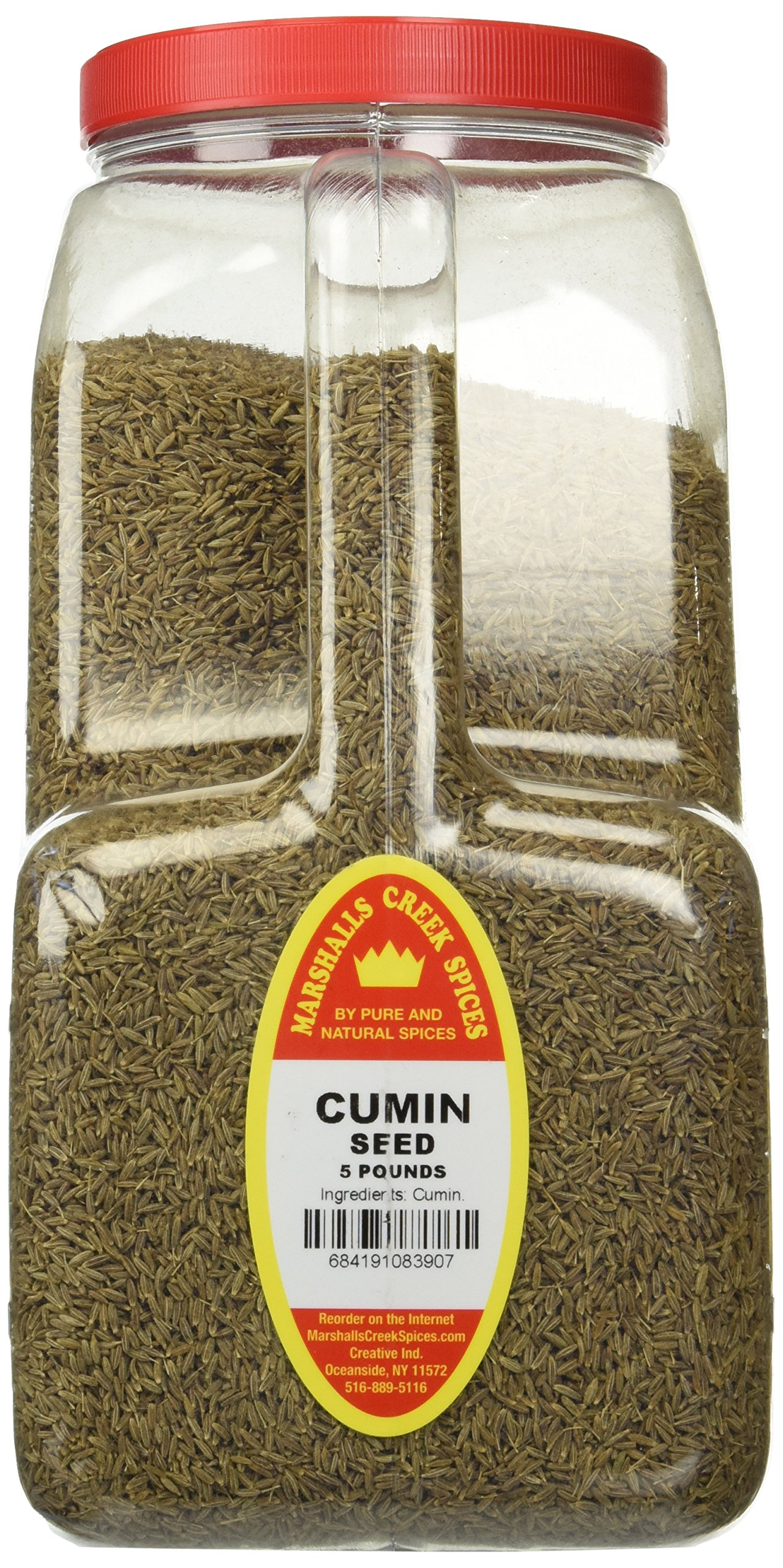 Marshalls Creek Spices Whole Cumin Seed Restaurant Jug, 5 Pound