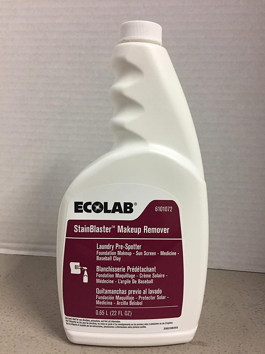 Amazon.com: Ecolab Stainblaster Makeup Remover Laundry Pre-spotter - 22 FL OZ: Industrial & Scientific