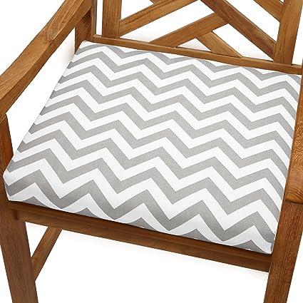 Mozaic Blair Indoor/Outdoor Chair Cushion, 20 Inch, Chevron Grey