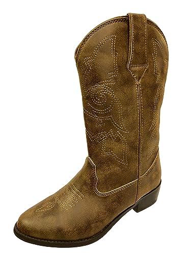 964bee21a53 Wonder Nation Girls  Cowboy Boots (3 YTH) Brown