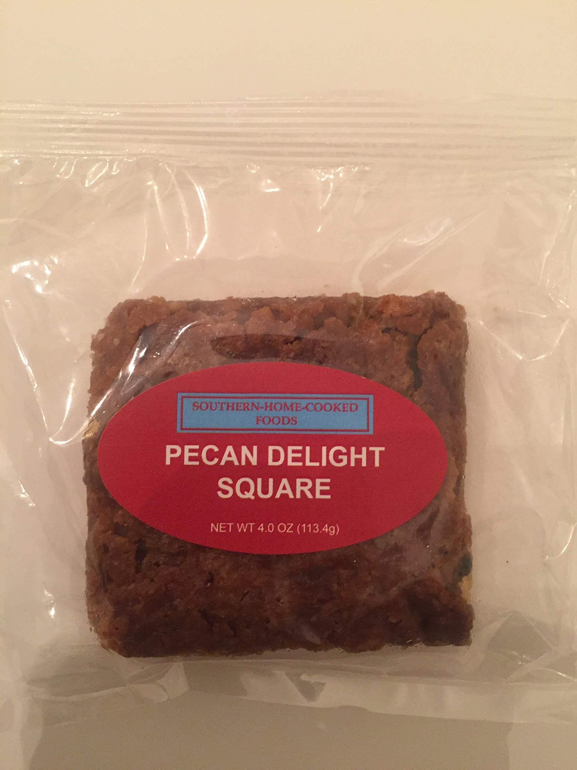 Southern Home Cooked Food's Pecan Delight Square - 3.6 oz Squares (Individually Packaged - 12 per Box)