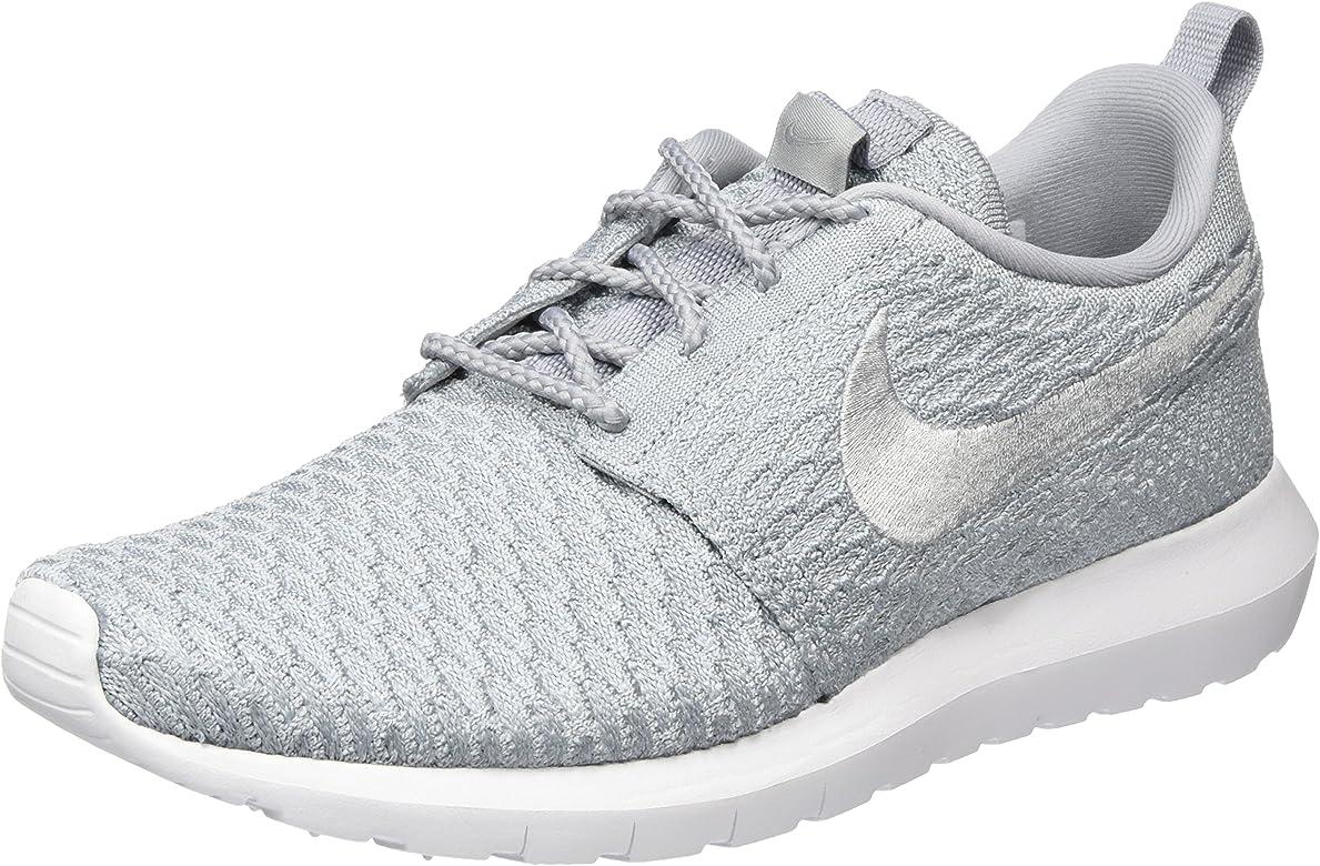 Nike Roshe NM Flyknit, Zapatillas de Deporte para Hombre, Gris (Gris (Wolf Grey/Wolf Grey-White), 39 EU: Amazon.es: Zapatos y complementos