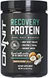 Onnit Recovery Protein: Post Workout Supplement with Whey Isolate, Creatine, and Coconut Water - Toasted Coconut Flavor (10 Servings), 410 Gram