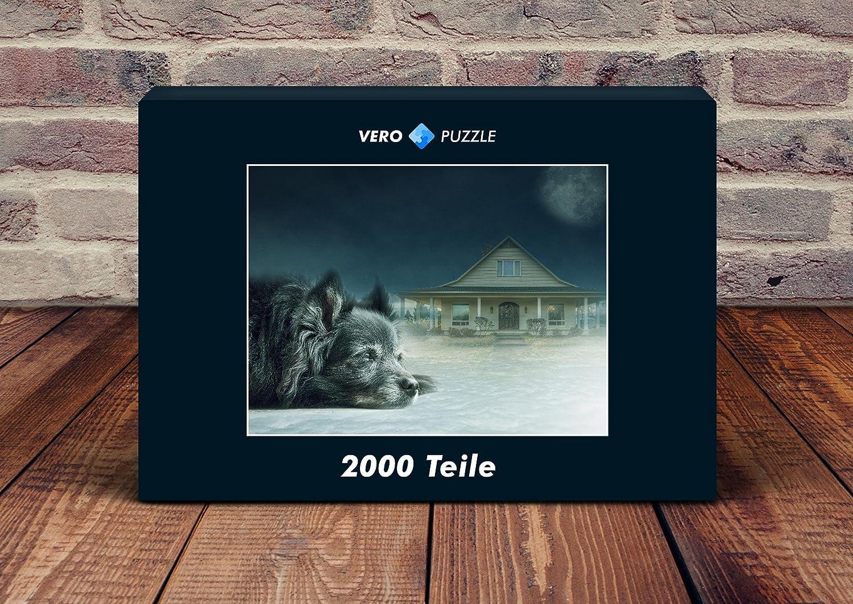 VERO PUZZLE 56062 Tierwelt - Hund, 2000 in Teile in 2000 hochwertiger, cellophanierter Puzzle-Schachtel bbd7ad