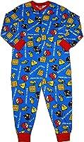 Boys Angry Birds Blue Onesie All in One Pyjamas 4-5 5-6 7-8 9-10 Years