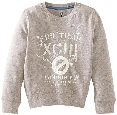 dc7508396fe1 Firetrap TB0156 Logo Boy s Sweatshirt Grey Marl 6-7 Years  Firetrap ...