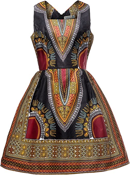 Woman African Print Dashiki Traditional Dress