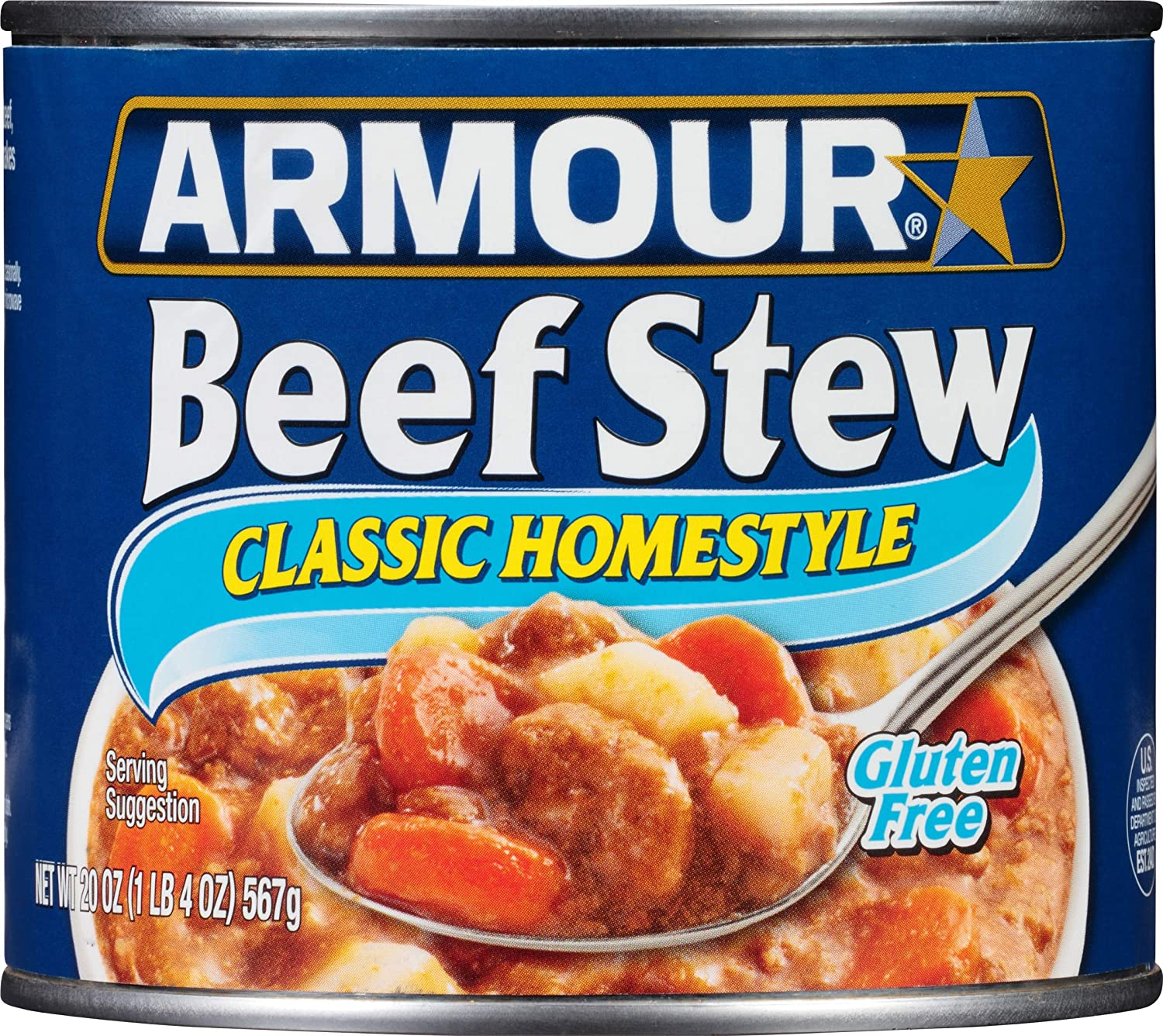Armour Star Classic Homestyle Beef Stew, Canned Food, 12 - 20 OZ Cans