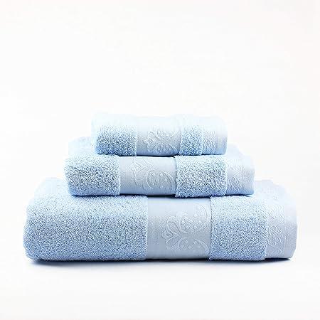 Natural Arabide 600 G Juego de Toallas Baño, Algodón 100%, Azul Claro, 30 x 50cm, 50 x 100cm, 100 x 160 cm: Amazon.es: Hogar