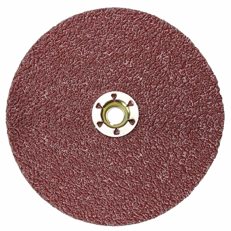 7'' Coated Fiber Disc, 5/8'' Mounting Hole Size, Coarse, 80 Grit Ceramic, 25 PK