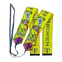 Armbänder YELLOW FUN BB Banbroken Stabilität für die Handgelenke für Fitness, Gymnastik, Crossfit, Gewichtheben, Frauen und Männer - Einheitsgröße ( 2 Einheiten ) gelb