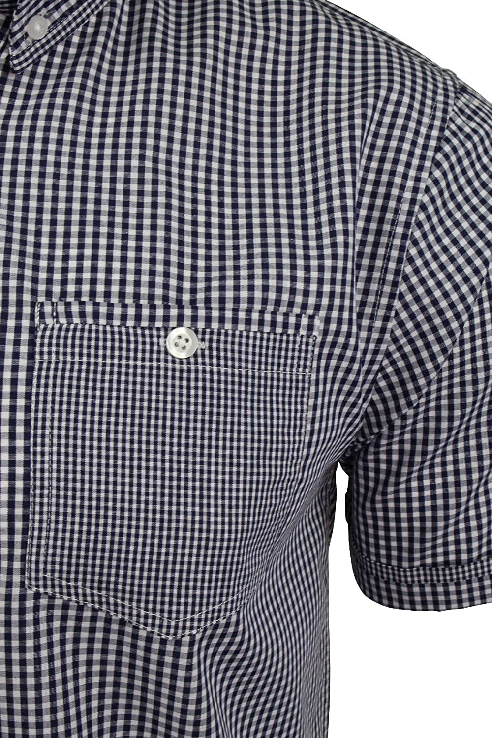 Brave Soul Mens Gingham Shirt by Clement With Buton Down Collar